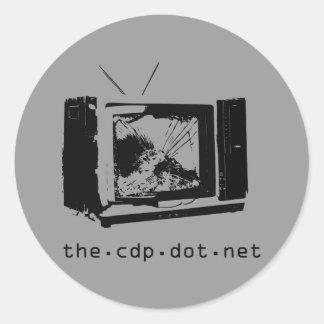 """CDP """"choque pegatina de su televisión"""""""