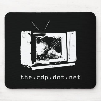 CDP Smash TV Black Mousepad