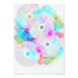 CDs on Multicolor Background Card