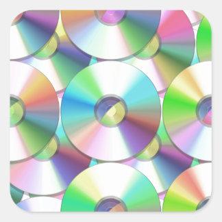 CDs Square Sticker