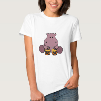 CE- Awesome Hippo Playing Bongo Drums T-shirt