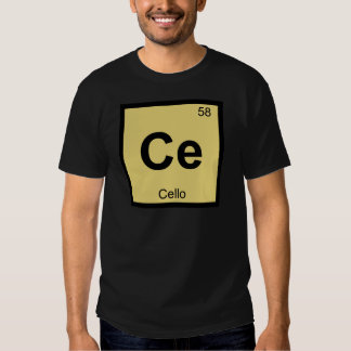 Ce - Cello Music Chemistry Periodic Table Symbol Tee Shirt