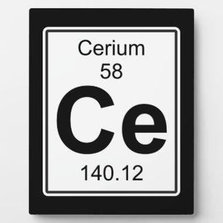 Ce - Cerium Plaque