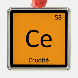 Ce - Crudite Appetizer Chemistry Periodic Table Christmas Tree Ornament