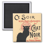 Ce Soir Le Chat Noir, Théophile Steinlen Refrigerator Magnets