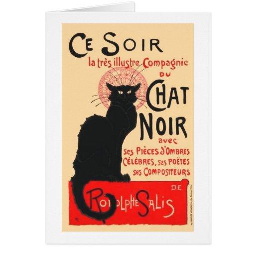 Ce Soir Le Chat Noir, Théophile Steinlen Tarjetas