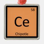 Ce - tabla periódica de la química de la pimienta ornato