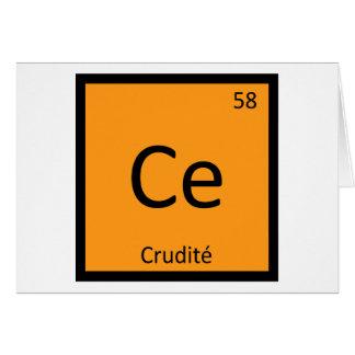 Ce - tabla periódica de la química del aperitivo tarjeta de felicitación