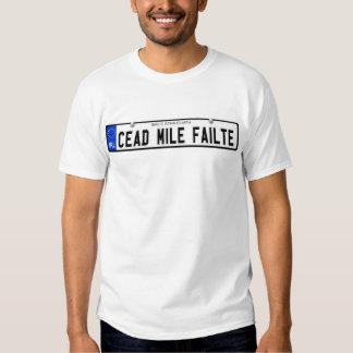 Cead Mile Failte - Dublin - Irish Plate T Shirt
