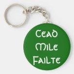 Cead Mile Failte Keychain