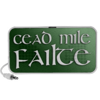 Cead Mile Failte Travelling Speakers