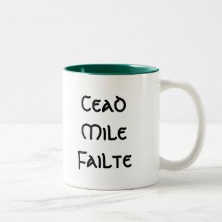 Cead Mile Failte Two-Tone Coffee Mug