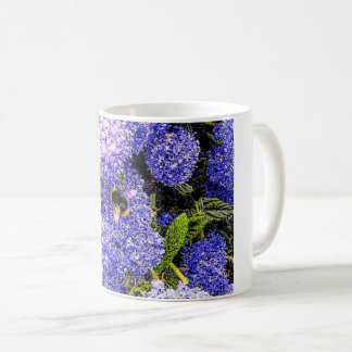 Ceanothus Flower Bee Coffee Mug