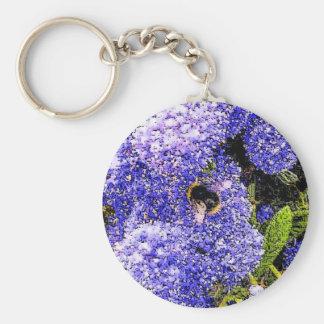 Ceanothus Flower Bee Keychain