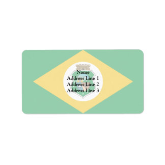 Ceara Brasil, Brazil flag Address Label