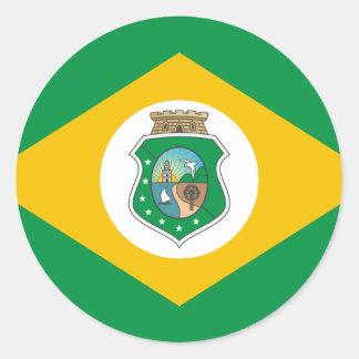 Ceara Brasil, Brazil flag Round Stickers