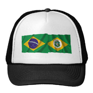 Ceará & Brazil Waving Flags Trucker Hat