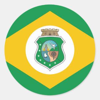 Ceara, el Brasil Pegatina Redonda