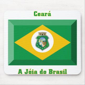 Ceará Flag Gem Mouse Pad