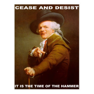 Cease And Desist Postcard