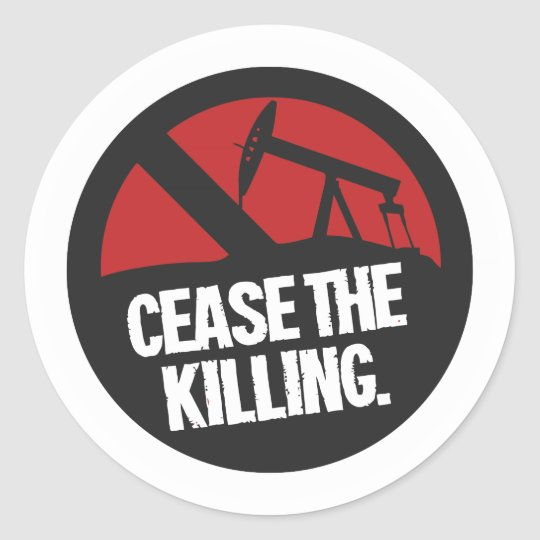 """Cease The Killing"" Product Line Classic Round Sticker"