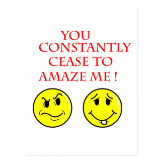 Cease To Amaze Cartoon Gift Ideas Postcard