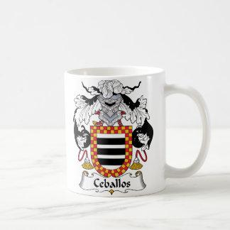 Ceballos Family Crest Mugs