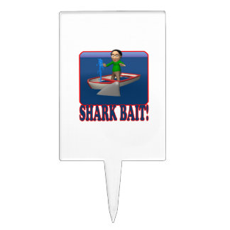 Cebo 2 del tiburón figuras para tartas