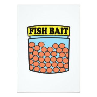 """Cebo de los pescados invitación 5"""" x 7"""""""