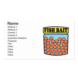 Cebo de los pescados plantillas de tarjetas de visita