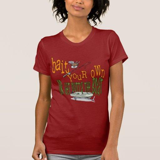 Cebo de pesca divertido del humor de la pesca de camiseta