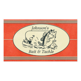 Cebo de pesca y tienda retros de los trastos plantillas de tarjetas de visita