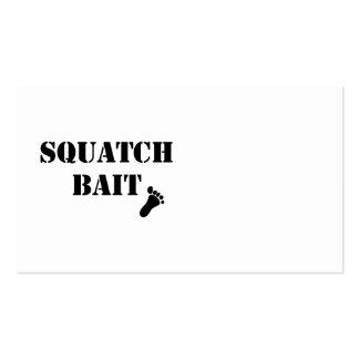 Cebo de Squatch Tarjetas De Visita