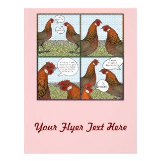 """Cebo del gallo folleto 8.5"""" x 11"""""""