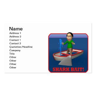 Cebo del tiburón tarjeta de visita