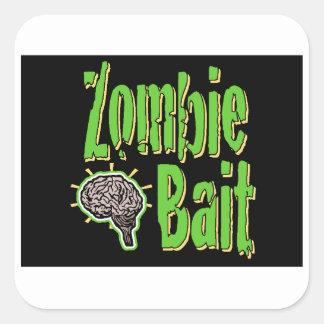 Cebo del zombi calcomanias cuadradas