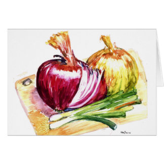 Cebolla - Onion - Eat Your Veggies Card