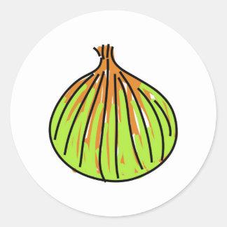 cebolla pegatina redonda
