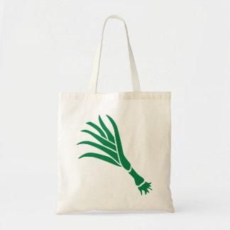 Cebolla verde bolsas de mano