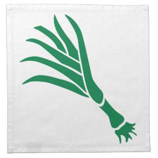 Cebolla verde servilleta imprimida