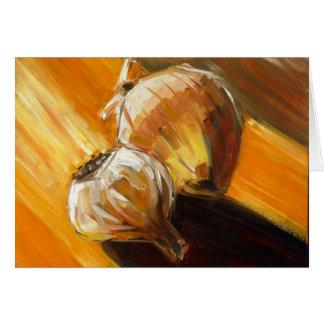 Cebolla y ajo tarjeta de felicitación