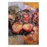 Cebollas de las coles rojas de Van Gogh, todavía d Tarjeta