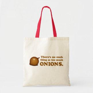 Cebollas divertidas bolsa tela barata