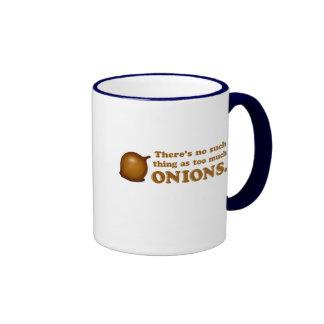 Cebollas divertidas tazas de café