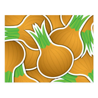 Cebollas marrones enrrolladas tarjetas postales