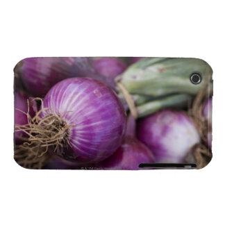 Cebollas rojas frescas en un granjero de New Jerse Case-Mate iPhone 3 Funda