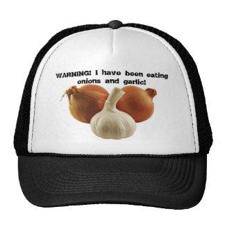 Cebollas y ajo gorras de camionero