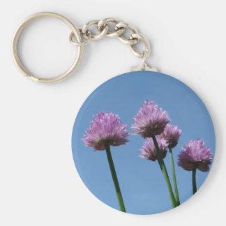 Cebolletas de la cebolla púrpura de la hierba del  llaveros personalizados
