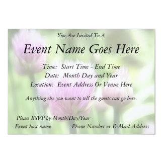 Cebolletas florecientes invitacion personalizada