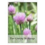 Cebolletas florecientes tarjetas